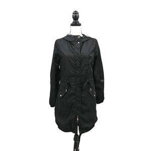 ASOS Berschka NWOT Black Satin Spring Rain Jacket